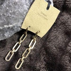 Urban Outfitters Brass Link Earrings
